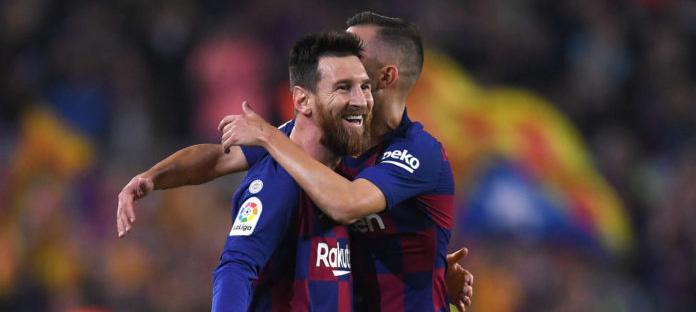 messi sumbang dua gol dan barcelona pesta kemenangan - IDNSPORTSLIGA.COM