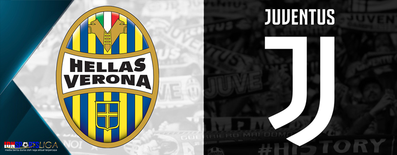hellas verona vs juventus - ronaldo cetak gol