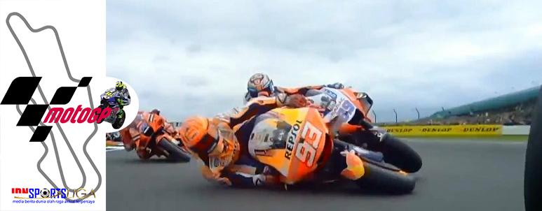 Quartararo Juara MotoGP Inggris, Marquez Terjatuh