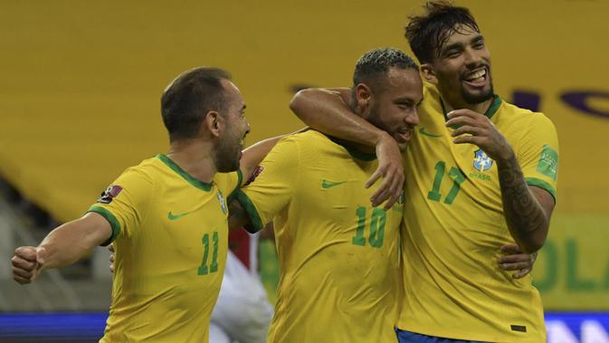 Brasil Bungkam Peru 2-0 di Kualifikasi Piala Dunia 2022