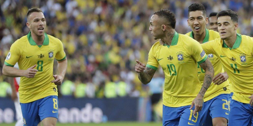 Gol Tunggal Everton Tentukan Kemenangan Brasil Atas Chile